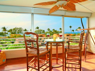 Photo for Divine Ocean View, Steps to Beach, A/C in Living Room & Bedroom, New Appliances