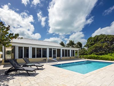 Photo for Thatch Hill: Snorkeling Haven in Rum Point w/ Oceanside Pool & Screened Porch