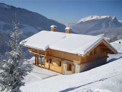 Photo for New chalet facing the Aravis, quiet, sun
