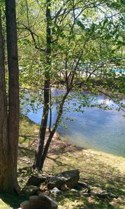 River view from deck off the den