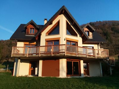 Photo for Chalet with Panoramic Views of the Alpes.