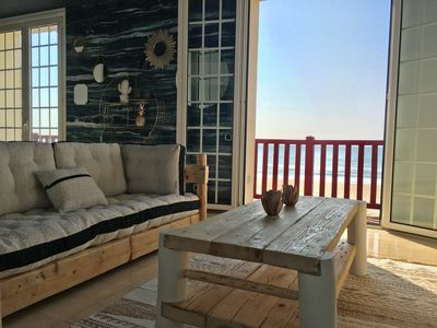 Photo for VILLA THE RED FEET, 2 bedrooms, on the beach, sea view.