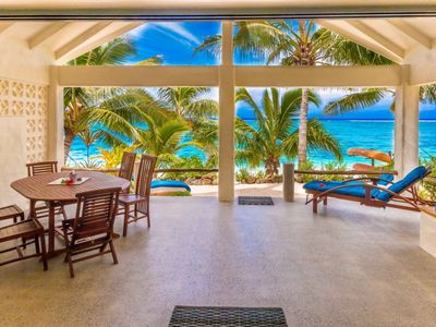 Photo for Cooks Bay Villa - Absolute Beachfront