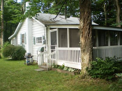 Photo for Rustic Cabin Promised Land State Park, Poconos- Walking Distance To Both Lakes