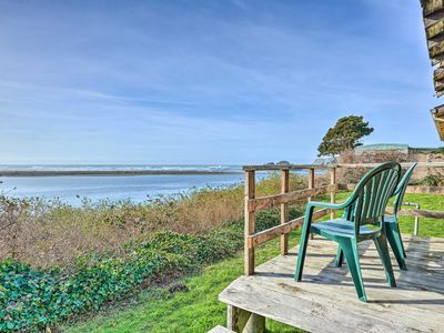 Photo for Smith River Vintage Cabin w/Oceanfront Deck+Views!