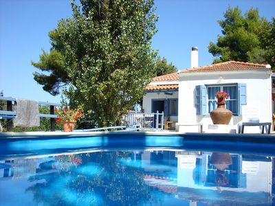 Photo for The Blue Cottage - totally private, with pool, in the countryside