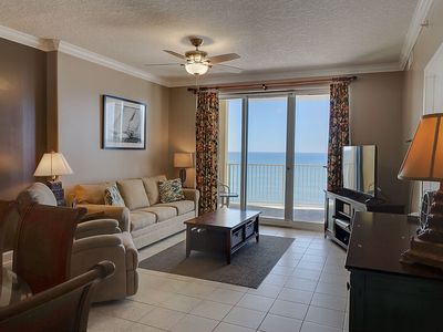 Photo for 20% OFF in APRIL! Classy 7th Floor Condo w/Gulf Front Master! LARGE Balcony and BEACH CHAIRS!