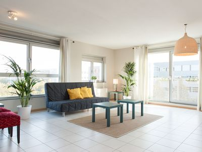 Photo for Bright and spacious two bedroom apartment with views over the Amsterdam Arena, for up to four guests
