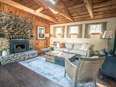 Photo for Cabin w/ Swimming Pond & Fireplace, Pet Friendly