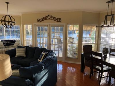 Photo for Beautiful 2 bedroom, 2 bathroom condo on the water with boat slip.