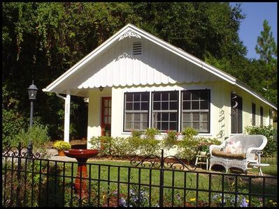 Lovely cottage exterior details. Private outdoor spaces. Beautifully landscaped.
