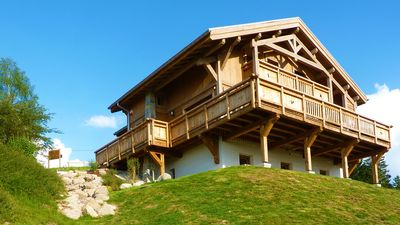 Photo for Gerardmer new chalet Le Haut Meix, lake view, south facing, wifi, sauna, close tracks