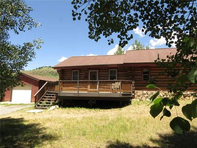 Photo for Log Cabin in Dillon Valley. Fenced Yard, Hot Tub, Garage, Easy Drive to Dillon Amphitheater, Marina