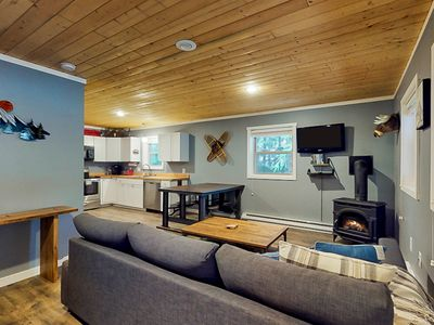 Photo for Walk to Ski lift, Contemporary cabin near skiing, lifts, mountain lakes
