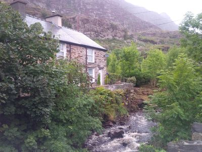 Photo for Cosy Riverfront End Slate Miners Cottage, Tanygrisiau, Ffestiniog , Snowdonia