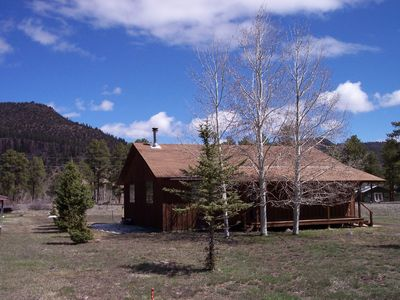 Photo for Cabin nestled in the Pines of Ponderosa 17 miles from Wolf Creek Ski Area