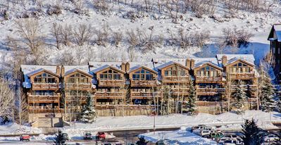 Photo for Deer Valley inexpensive 2 BD w/ Private hot tub at base of the ski resort.
