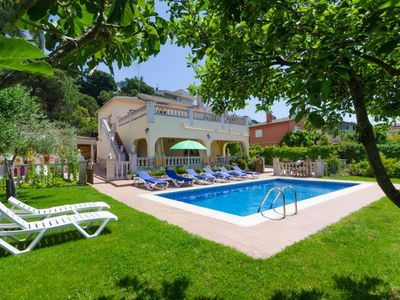 Photo for Club Villamar - Beautiful spacious villa near Lloret de Mar with private swimming pool and beauti...