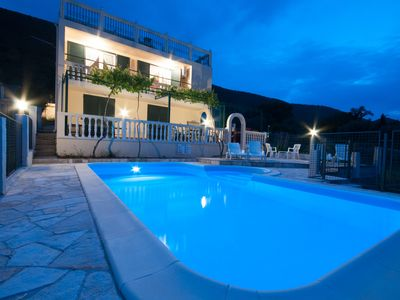 Photo for Villa with pool in hill side location with stunning views of the bay of Kotor