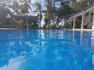 Large private pool with toddler area