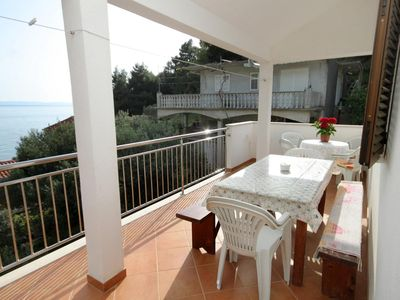 Photo for Three bedroom apartment with terrace and sea view Cove Skozanje, Hvar (A-4024-b)