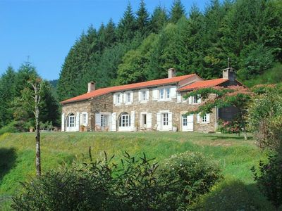 Photo for Renovated farmhouse with heated pool, Ht Languedoc Regional Park