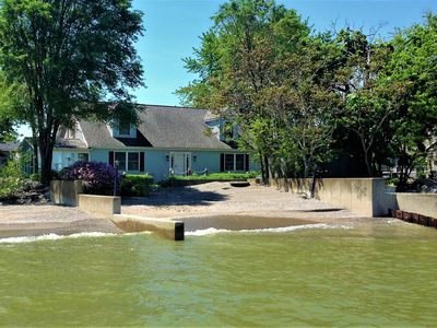 Photo for Delightfully Spacious Private Beach-Front Home Sleeps 13 on Lake Erie!