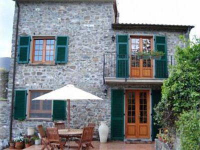 Photo for Traditional stone villa with terrace & gardens, in the hills of Lunigiana,  Northern Tuscany.