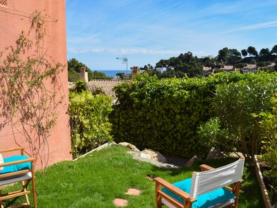 Photo for Townhouse sea views  800 mts from the beach. 3 double rooms. Begur -Costa Brava