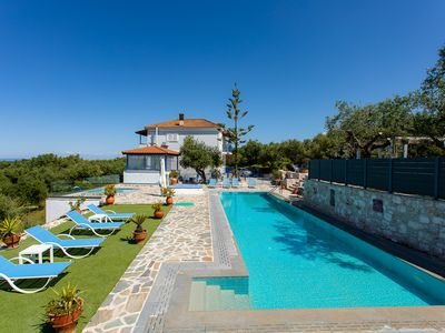 Photo for Luxury Villa -  huge Private pool - Sea View - walk to beach - sleeps 8/9