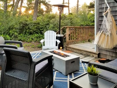Photo for Woodsy Retreat, private backyard - walk to the beach, town & hiking!