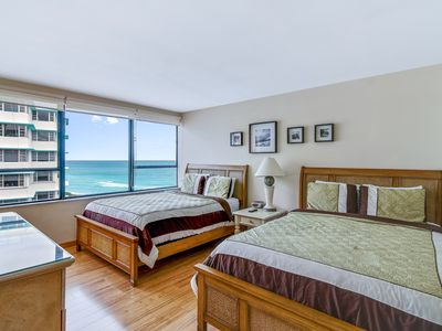 Photo for Modern, waterfront condo close to beach w/ two pools, restaurant on-site!