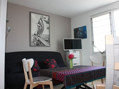 Photo for STUDIO 2 pers (80m beach) Residence quiet 25m ² ROSCOFF from 180 € to 330 €