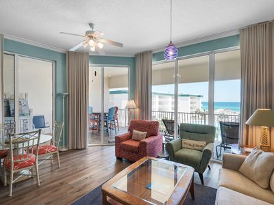Photo for Stunning 3rd Floor condo w/ pool, fitness center, & tennis court next to beach!