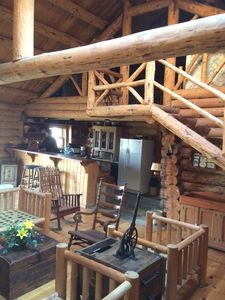Photo for Rustic Log Cabin w/private Root River Access and Acreage