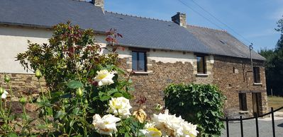 Photo for Beautiful longhouse with private pool near Dinan, Dinard and St-Malo