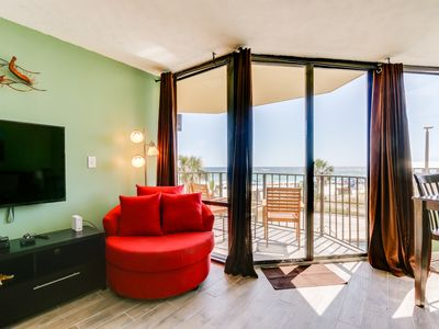 Photo for Sunbird 210w - Cozy beachfront condo, with amazing views & sunsets in PCB.