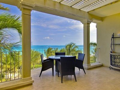 Photo for PERFECT VIEWS! 2 BR OCEANFRONT PENTHOUSE.  DIRECTLY ON GRACE BAY. AUGUST SAVINGS