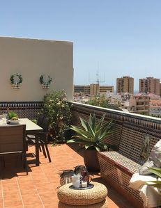Photo for Penthouse  Fuengirola with very big terrace 400 m from the beach, parking in hou