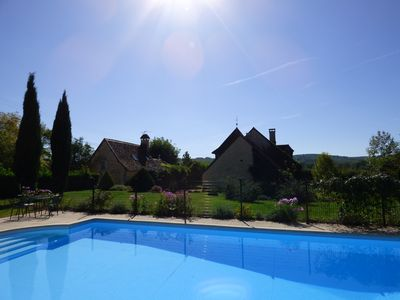 Photo for Quiet stone house 15 people ranked 4 * private heated pool