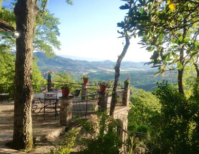 Stunning views of Umbrian countryside from terrace