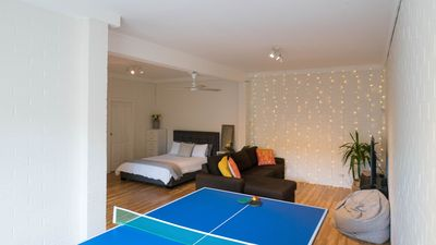 Downstairs entertainment room, perfect for relaxing and having fun!
