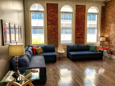 Photo for Walk to Honky Tonks! Downtown Nashville Loft 50-70% off M-W! Bettye B, Sleeps 10 Nashville Luxury Vacation Rentals by MusicCityLoft on VRBO