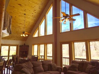 Photo for Beautiful Home on 24 acre setting,  private mountain, creek, Close to Downtown