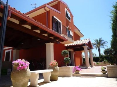 Photo for DinastiaCase: Villa le Mimose, apartm. / veranda / pool view / beach 30 MT.