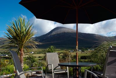 Spectacular Croagh Patrick view from sun deck