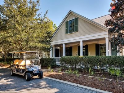 """Photo for """"Peaceful Easy Feeling"""" - 4 BR Home + Carriage House with 6 Seater Electric Cart"""