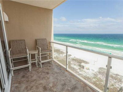 Photo for Get Up Close With A Ocean Front View Unit With Spacious Balcony.   Beach Front Balcony!