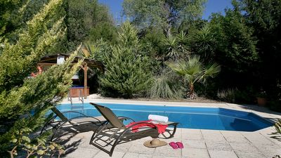 Photo for Single Storey Villa, Private Pool, Hot Tub set in the Leafy Miliou Valley amongst the Citrus Groves!