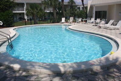 Gorgeous Pool area with bathrooms & laundry area